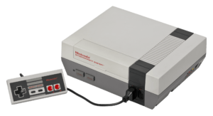 Nintendo NES retro gaming console