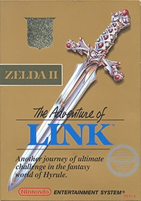 Zelda 2: The Adventure of Link Box Cover