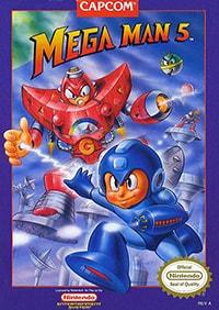 Mega Man 5 Cover Box