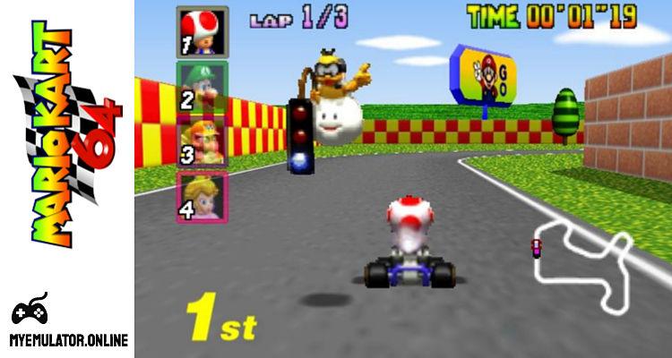 Play Mario Kart 64 Online Free N64 Nintendo 64