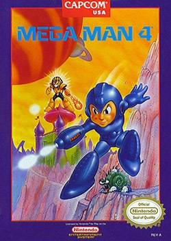 Mega Man 4 Cover Box