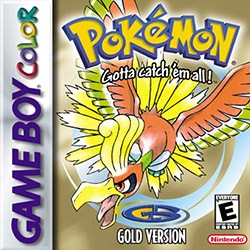 Pokemon Gold Version Cover Box