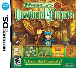 Professor Layton and the Unwound Future Cover Box