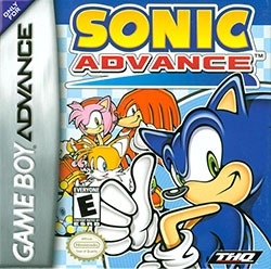 Sonic Advance Cover Box