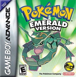 Pokemon Emerald Version Cover Box