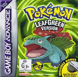 Pokemon LeafGreen Version Cover Box