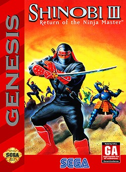 Shinobi 3: Return of the Ninja Master Cover Box