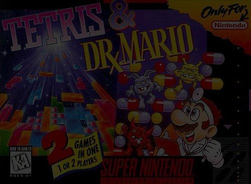 Tetris & Dr. Mario - Super Nintendo (SNES)
